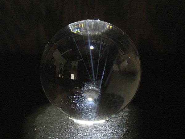 ブルーエンジェルラダー(ハイダウェイクォーツ)天然水晶丸玉
