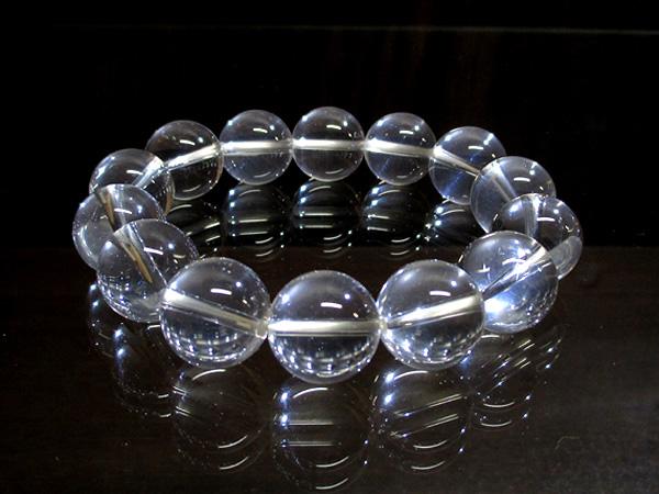 ブルースタークォーツ(水晶) ブレスレット 約15mm 【鬮石 くじいし】