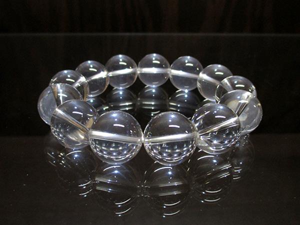 ブルースタークォーツ(水晶) ブレスレット 約16mm 【鬮石 くじいし】