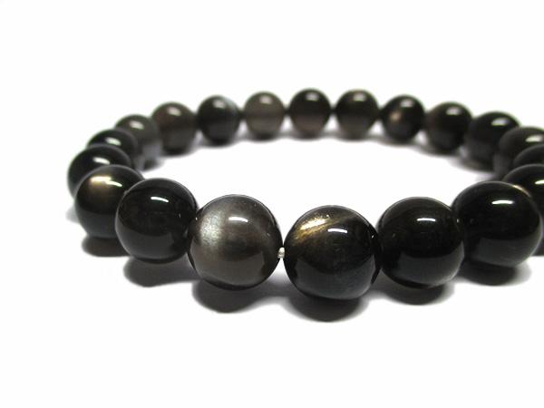 ブラックサンストーンブレスレット 天然石アクセサリーの通販 販売専門店 鬮石