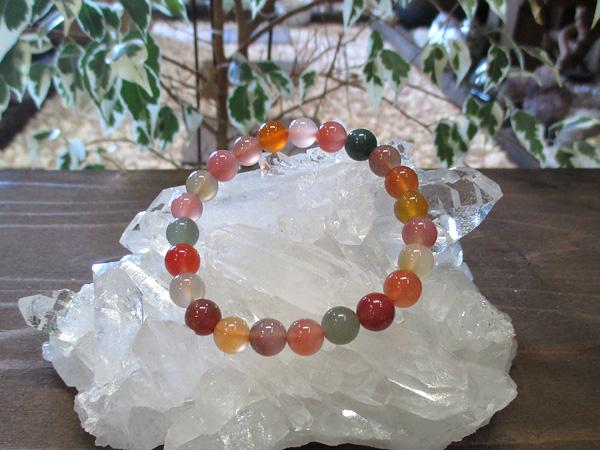 ミックスカルセドニーブレスレット 天然石アクセサリーの通販 販売専門店 鬮石