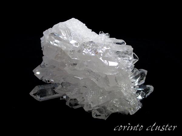 高品質 ブラジル コリント産(トマスゴンサガ)水晶 クラスター 原石 天然石専門店【鬮石】