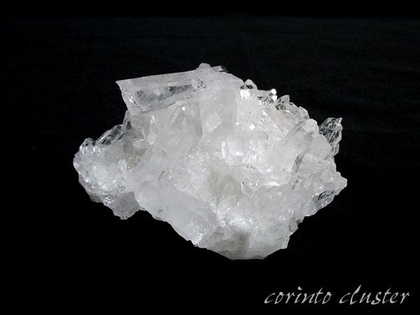 高品質 ブラジル コリント(トマスゴンサガ)産 水晶 クラスター 原石 天然石専門店【鬮石】