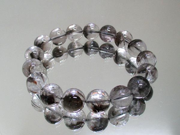 高品質プラチナクォーツ(ルチル水晶)天然石ブレスレット