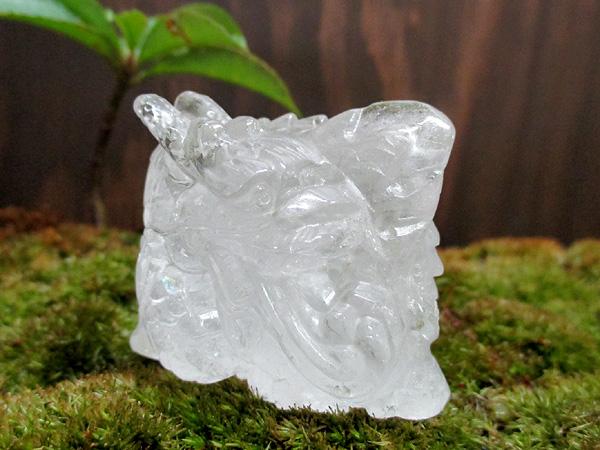 天然水晶 龍・ドラゴン彫刻