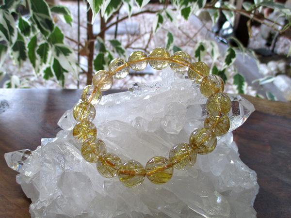 ルチルクォーツブレスレット 天然石アクセサリーの通販 販売専門店 鬮石