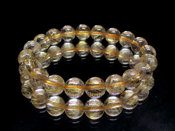 高品質ルチルクォーツ(水晶)天然石ブレスレット