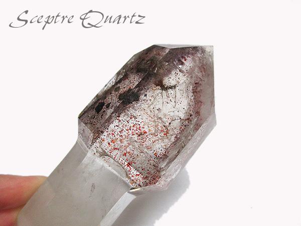 希少!マダガスカル産レピドクロサイトインセプタークォーツ(ファイヤークォーツ)水晶ポリッシュ