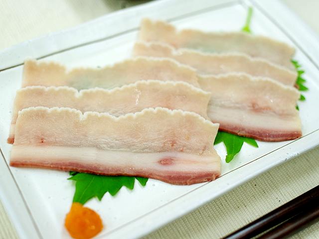 【珍味】ヒメワタ(食道)70gスライス(イワシ鯨/北西太平洋産)(10~11枚前後)【3089】
