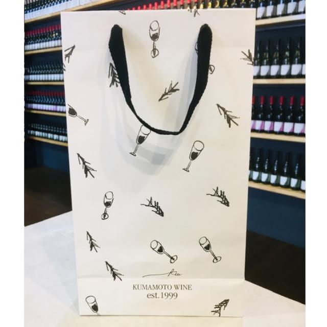 熊本ワインオリジナル 2本用紙袋 (2本箱が入る大きさです。)