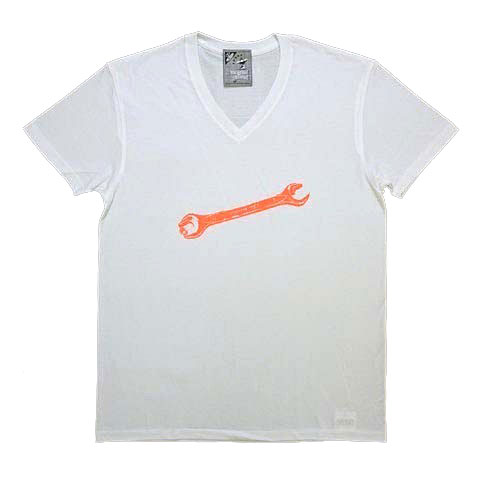 スパナVネックTシャツ