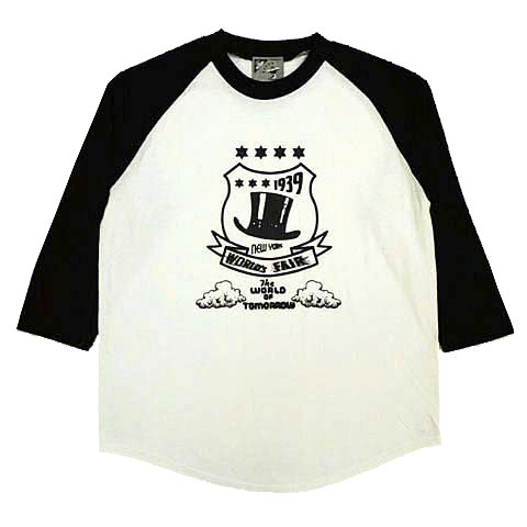 シルクハットエンブレム7分袖ラグランTシャツ