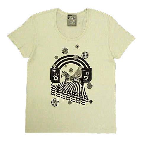 ゼブラDaydreamUネックTシャツ