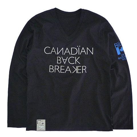 カナディアンバックブリーカーVネックロングスリーブTシャツ