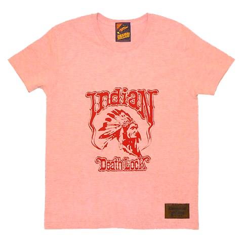 インディアンデスロックカラー杢Tシャツ