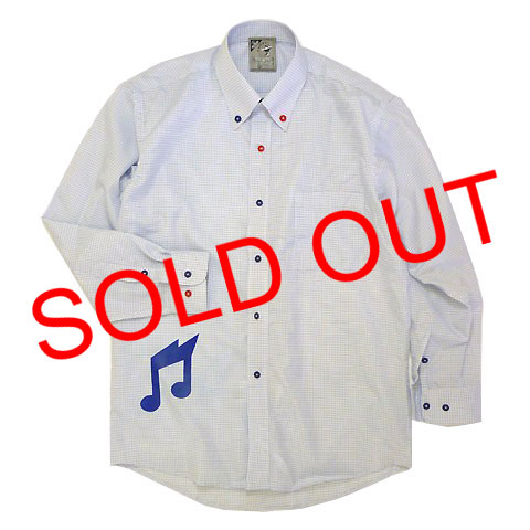 THUNDER NOTEウィンドウペーンボタンダウン形状安定DRYシャツ 売り切れ