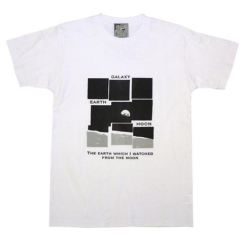 月から見た地球Tシャツ
