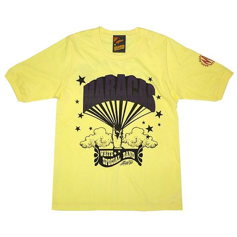 マラカスホワイトスペシャルバンド バルーンロゴ5分袖Tシャツ
