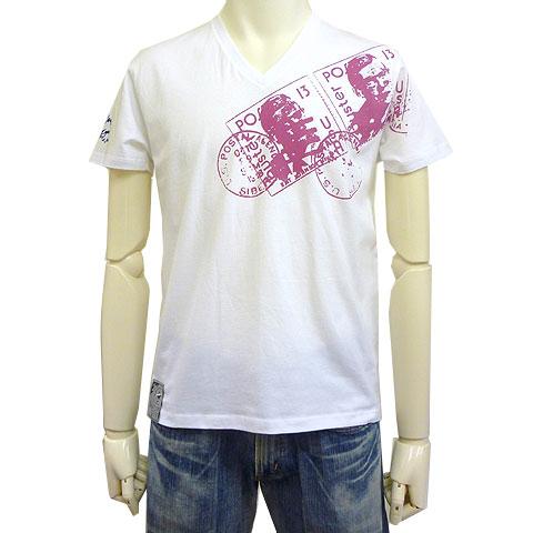 スタンプVネックTシャツ