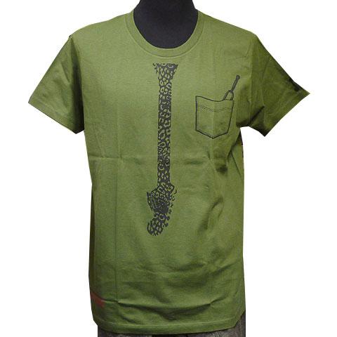 ネックタイTシャツ カーキ フロント