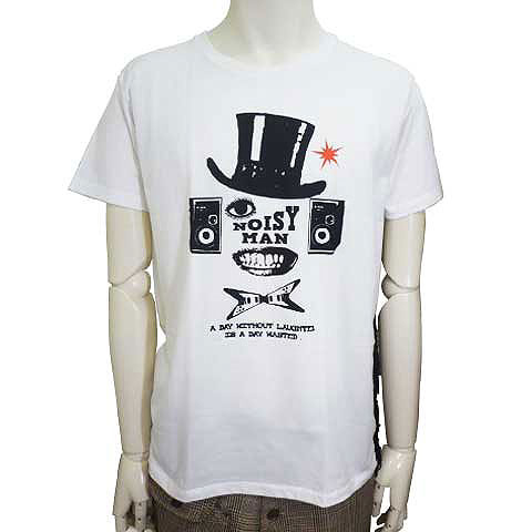 NOISY MANフリンジTシャツ ホワイト