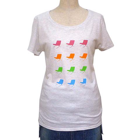 レディーステトラチェアラウンドネックTシャツ