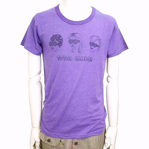 メガネ3姉妹カラー杢Tシャツ パープル