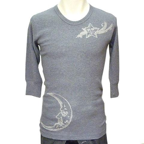 太陽と星とムーンワッフル1/2スリーブTシャツ