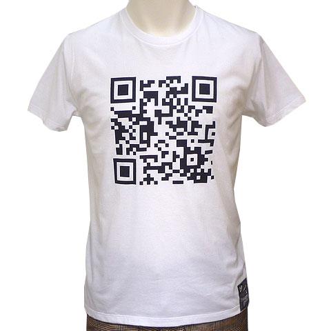 QRコードTシャツ ホワイト フロント