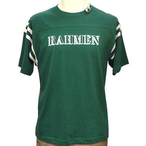 ラーメンフットボールTシャツ アイビーグリーン フロント