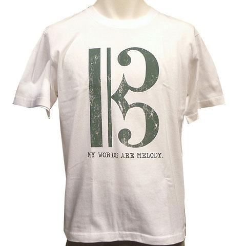 ハ音記号Tシャツ ホワイト フロント