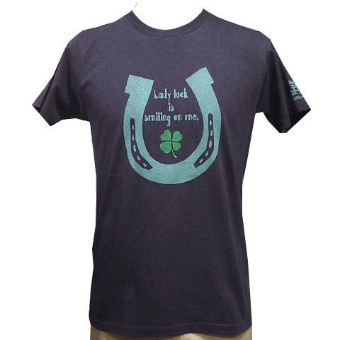 ホースシューTシャツ ネイビー フロント