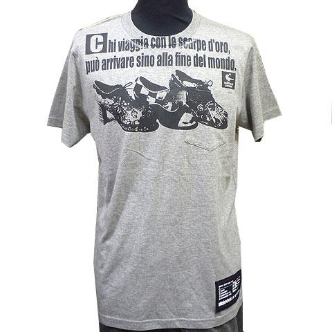 ビューティフルシューズポケットTシャツ グレー フロント