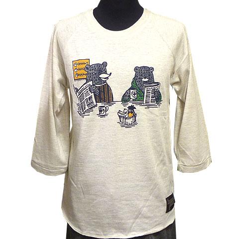 クマの団欒7分袖Tシャツ フロント
