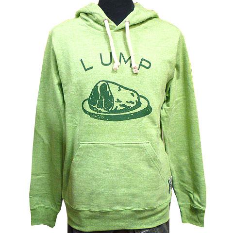 LUMPプルオーバーパーカー 杢グリーン フロント