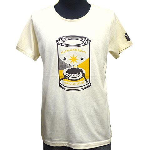クマムシCAN Tシャツ アイボリー フロント