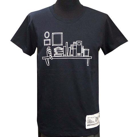 ブックシェルフTシャツ ネイビー フロント