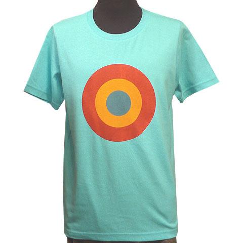 TARGET Tシャツ アクアブルー フロント