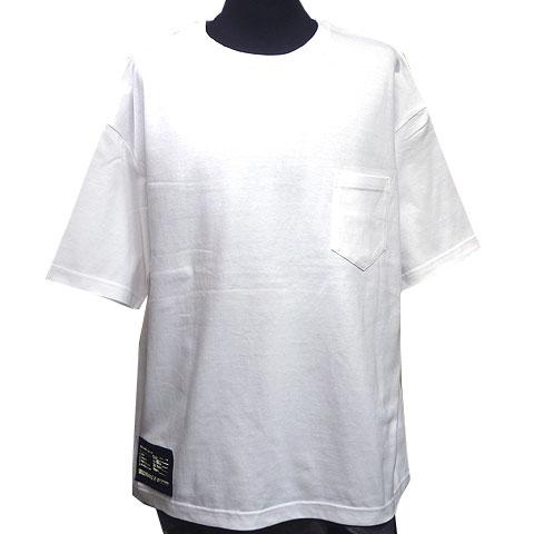 ビッグシルエットポケットTシャツ ホワイト フロント