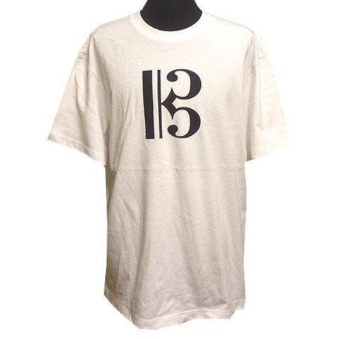 ハ音記号2 Tシャツ ホワイト フロント