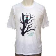 クマゲラ5分袖Tシャツ ホワイト フロント