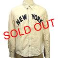 NYワッペンシャンブレー長袖シャツ 売り切れ