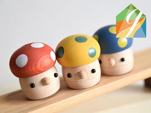 どんぐりきのこ(カラー)/おもちゃのこまーむ