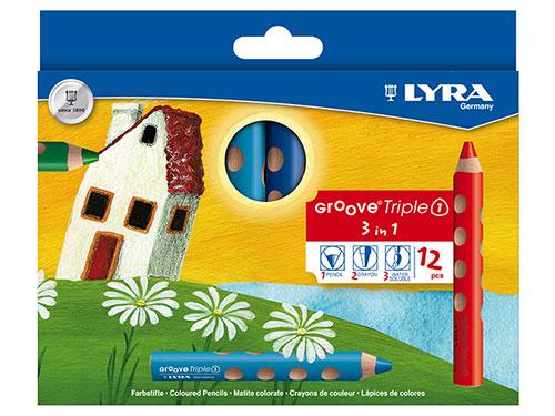色鉛筆 グルーヴトリプルワン 12色セット/LYRA