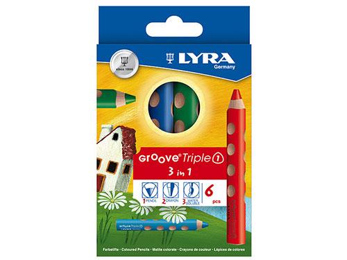 色鉛筆 グルーヴトリプルワン 6色セット/LYRA