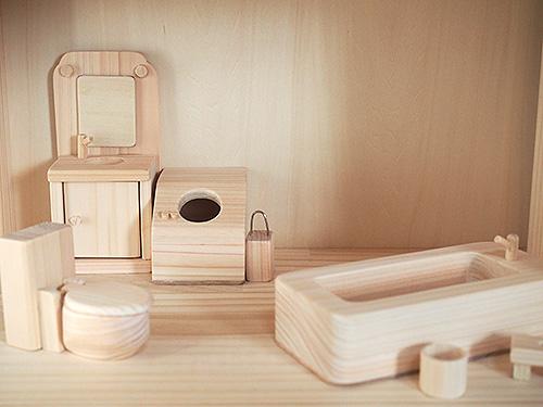 ドールハウス用バスルームセット