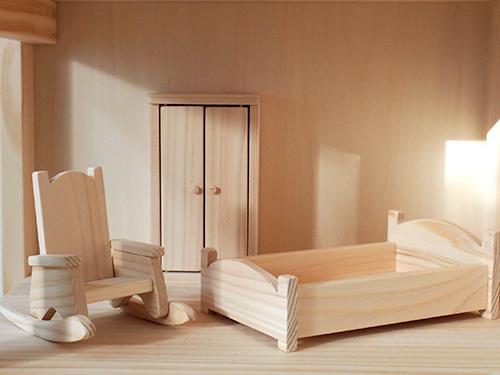 ドールハウス用ベッドルームセット