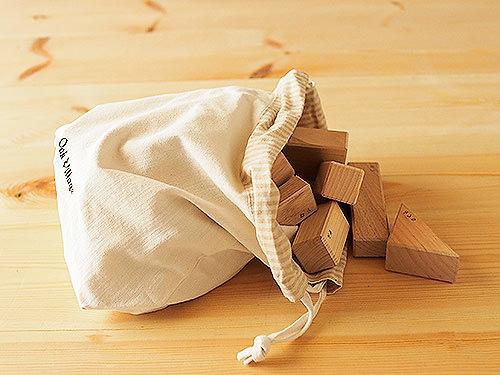 積木セット(布袋付き)/OakVillage