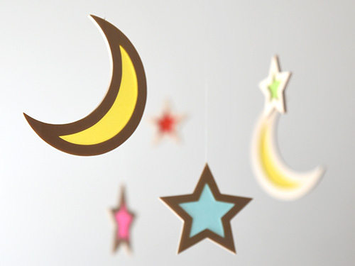 木製モビール 月と星/おとぎ屋