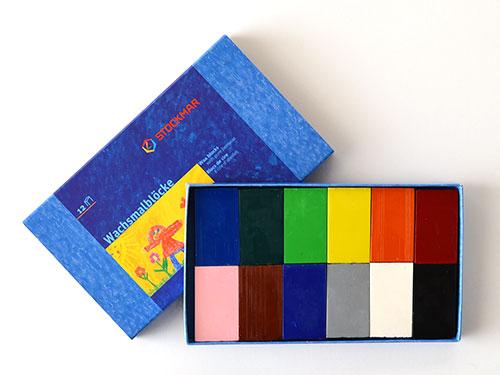 シュトックマー ブロッククレヨン 12色紙箱